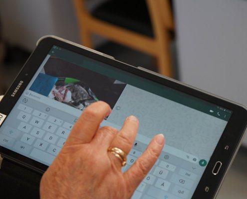 Direkter Nachrichtenaustausch per Tablet